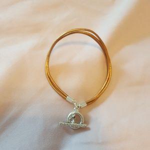 Leather slide bracelet
